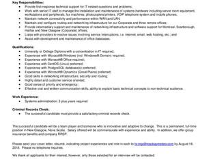 MacKay Meters - Junior Network Administrator (New Glasgow)