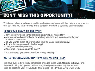 One Journey Work & Learn Web Programming Program