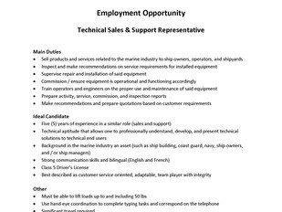 Jastram Technologies - Technical Sales & Support Representative