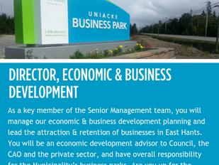 Municipality of East Hants - Director, Economic & Business Development