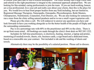 Little River (Digby) - Holistic Therapies (Various Roles)