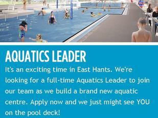 Municipality of East Hants - Aquatics Leader (Elmsdale, NS)