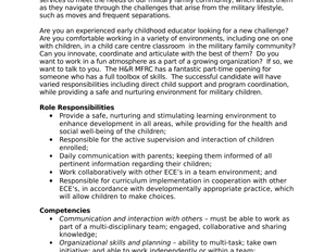 Halifax & Region Military Family Resource Centre - Before School Program Staff