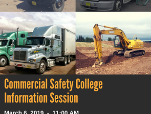 Commercial Safety College - Information Session, March 6th