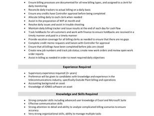 VistaCare Communications - Billing Supervisor