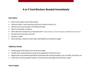 Payzant Home Hardware - Yard Workers