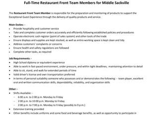 Tim Hortons (Middle Sackville) - FT Restaurant Front Team Members