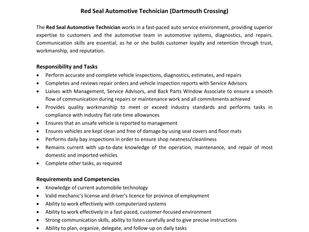 Canadian Tire - Red Seal Automotive Technician