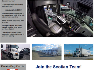 Scotian Distribution Services - Class 1 Drivers