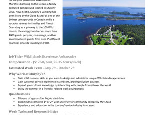 Murphy's Camping On The Ocean - Wild Islands Experience Ambassador