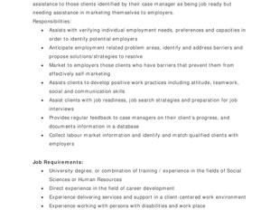 Nova Scotia Works (YMCA) - Job Developer (Cape Breton)
