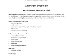 Eastern Building Cleaners - PT Cleaner