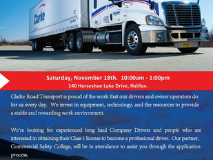 Commercial Safety College - Job Fair and Driver Training Info Session!