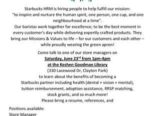 Starbucks - Job Fair