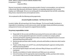 Shannex – Accounts Payable Coordinator