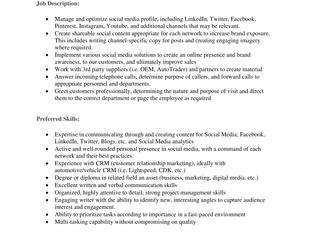 Adventure Motors - Social Media & Marketing Coordinator/Receptionist