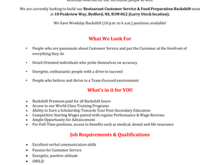 McDonald's (Larry Uteck) - Backshift Workers
