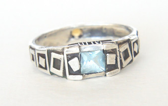 Jewelry City Aquamarine Void Ring