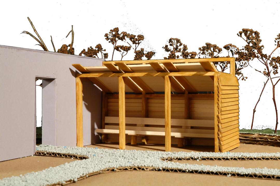 Architecture Pavilion Model Fascade