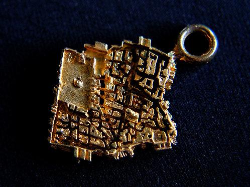 Jerusalem Brass Keychain