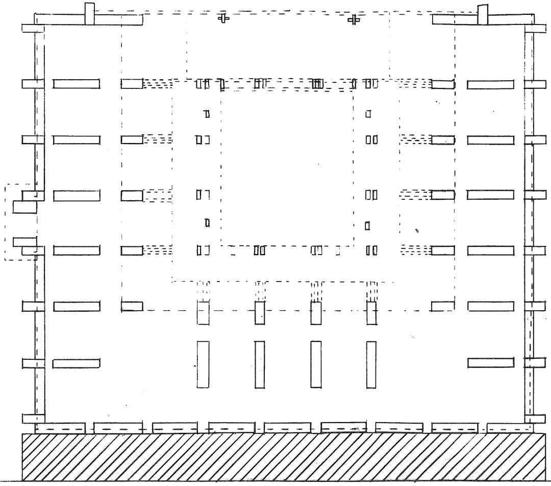 Architecture Courtyard Market Plan