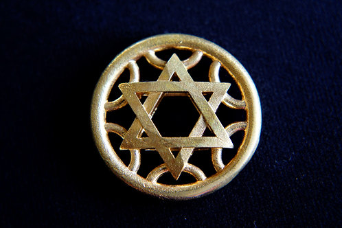 Star of David Medallion Keychain