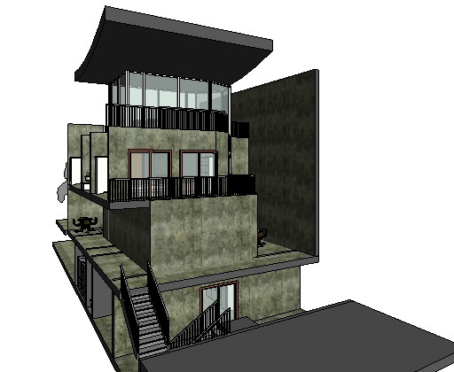 Architecture Row House Section