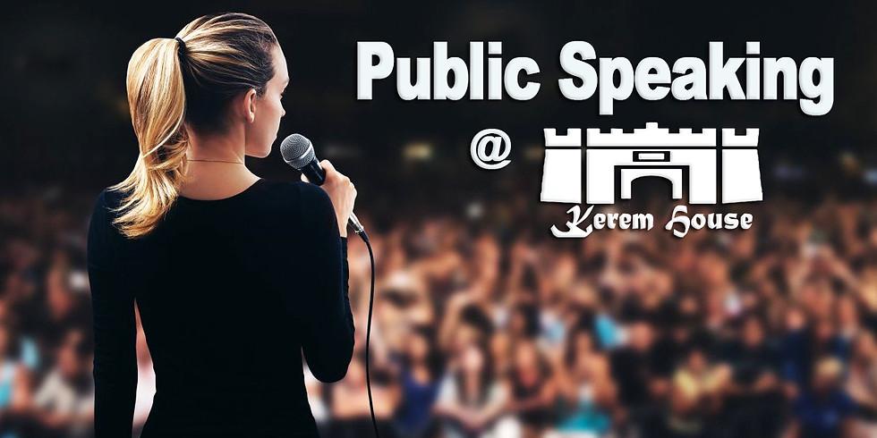 Public Speaking Workshop 16.2.20