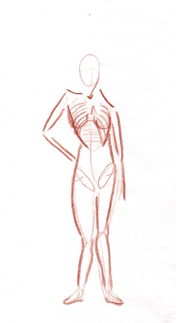 Fashion Body Sketch