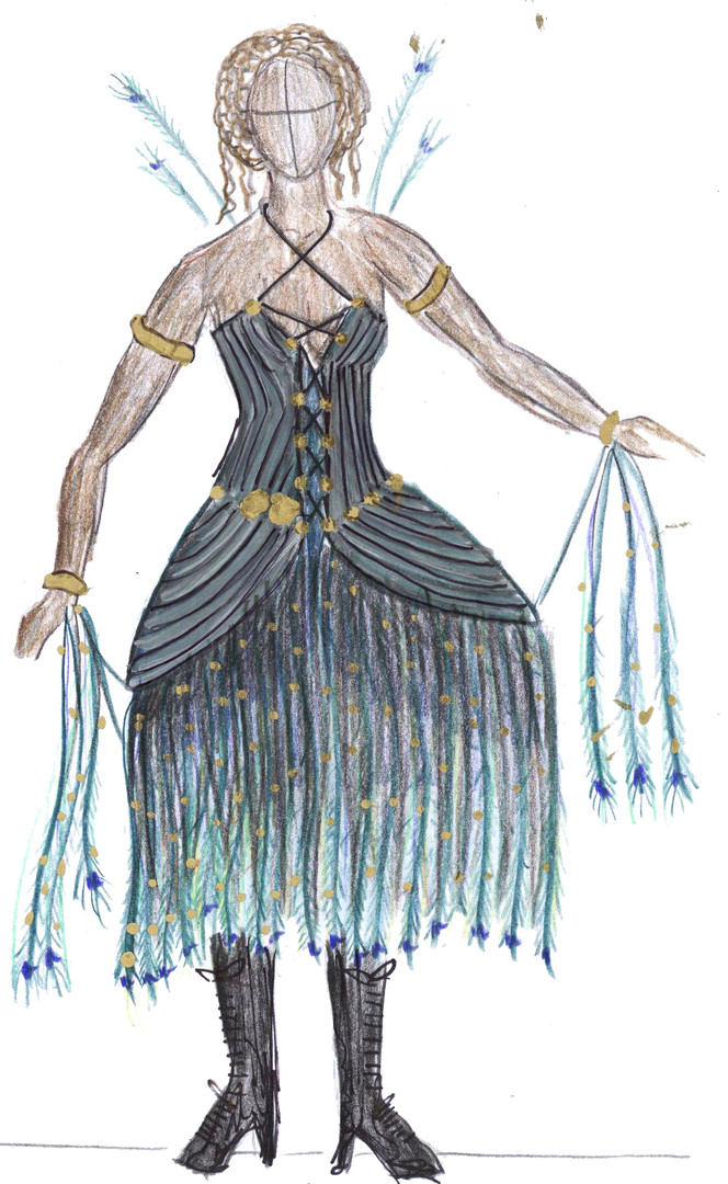 Fashion Peacock Dress 02