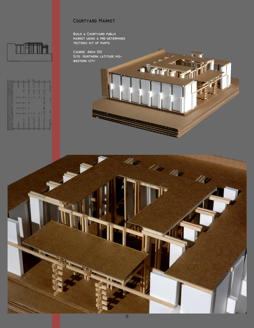 Architecture Courtyard Market Model