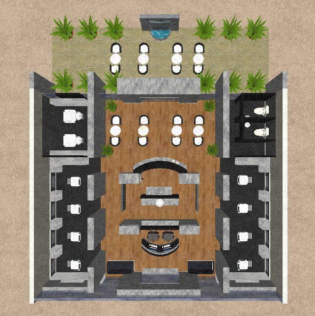Interior Design Coffee Hair Plan