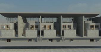 Architecure Row House Block