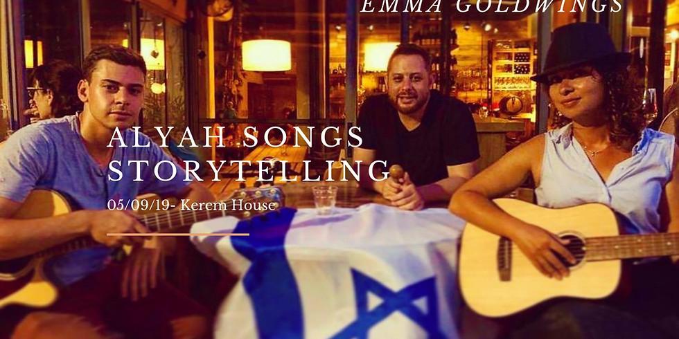 Aliyah Songs Storytelling starring Emma Goldwings
