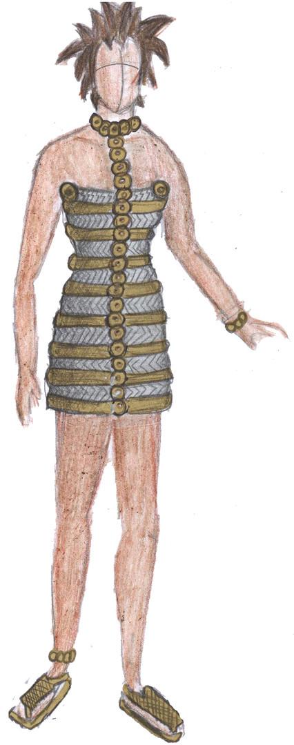 Fashion Gold Rib Dress