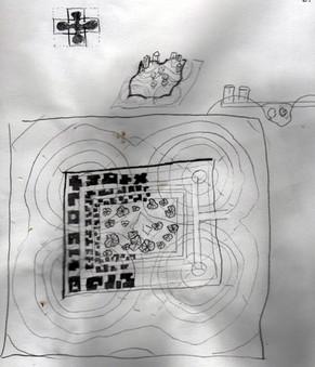 Urban Planning Courtyard City 01