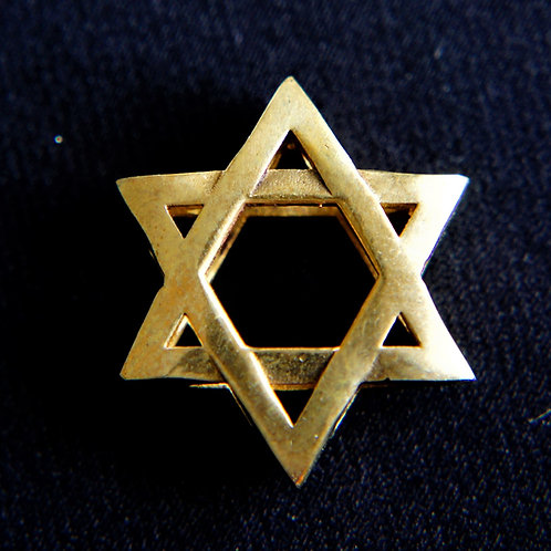 Star of David Brass Keychain