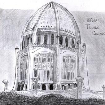 Art Bahai Temple Chicago