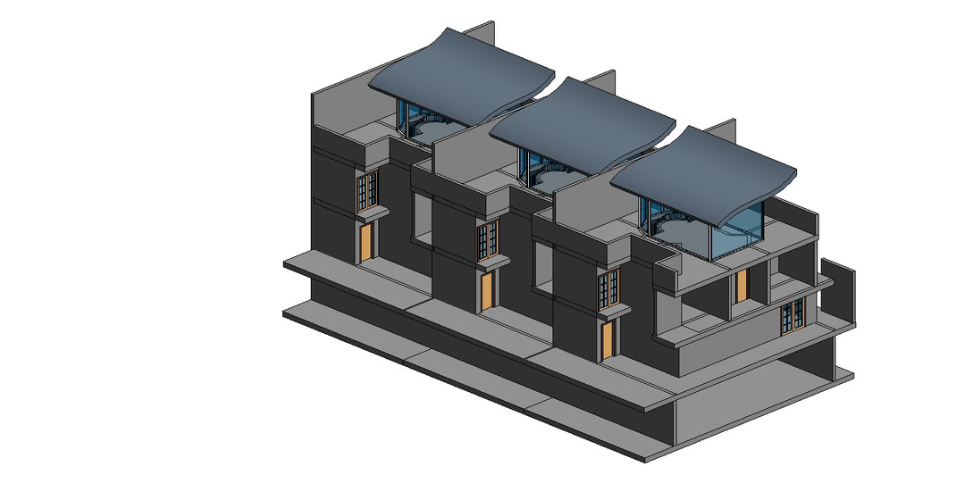 Architecture Row House 01