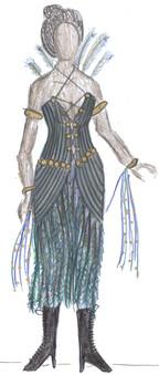 Fashion Peacock Dress 01
