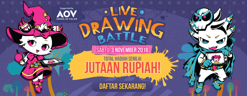 Daftar sekarang juga di MiniCF Live Drawing Battle!