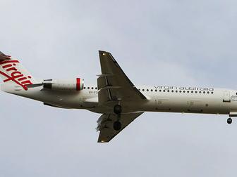Virgin Australia Fokker 100 breaks cover