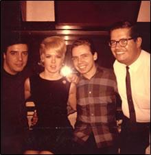 L-R John, Joey Heatherton, Dave White and Arranger Jimmy Wisner 1965