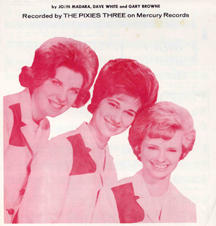 """""""The Pixies Three"""" songsheet for hit """"442 Glenwood Avenue"""""""