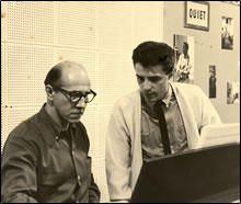 """Walt Gates (Piano Player on """"At The Hop"""") with John 1961"""