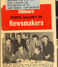 Billboard Cover of John and Dave signing with Mercury Records 1963
