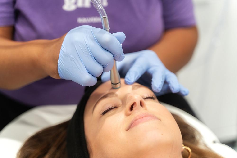 Women receiving a med tech facial.