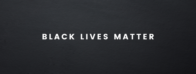 Black Lives Matter in white text against a black background