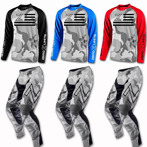 Snow Camo Youth Jersey/Pant Combo