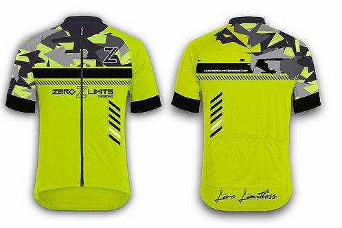 Urban Camo Cycling Jersey | Hi-Viz